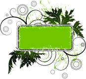 grunge знамени флористическое Стоковая Фотография RF