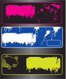 grunge знамен Стоковые Изображения