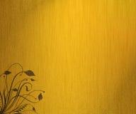 grunge золота предпосылки флористическое Стоковые Фото