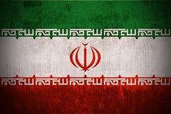 grunge Иран флага Стоковое Изображение