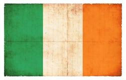 grunge Ирландия флага Стоковые Изображения RF