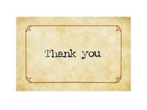 grunge карточки благодарит вас Стоковое Изображение RF
