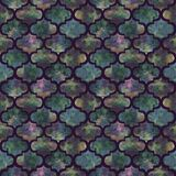 Grunge конспекта формы ярких плиток курчавый восточный геометрический красочный брызгает текстуру, дизайн картины акварели безшов Стоковое фото RF
