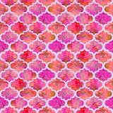 Grunge конспекта формы ярких плиток курчавый восточный геометрический красочный брызгает текстуру, дизайн картины акварели безшов Стоковые Изображения