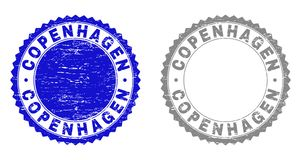 Grunge КОПЕНГАГЕН поцарапал уплотнения печати иллюстрация штока