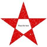 Grunge красная большая звезда Вектор затрапезный, поцарапанная звезда Символ звезды Grunge бесплатная иллюстрация