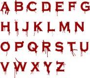 grunge крови алфавита Стоковые Фотографии RF