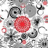 grunge кругов предпосылки белизна черного безшовная Стоковые Фото