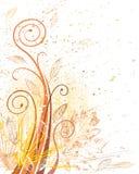 grunge листва осени Стоковые Изображения