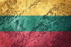 grunge Литва флага Литовский флаг с текстурой grunge Стоковое Изображение RF