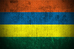 grunge Маврикий флага Стоковые Фото