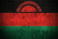 grunge Малави флага Стоковые Изображения