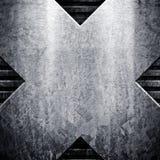 grunge металлопластинчатое Стоковое Изображение