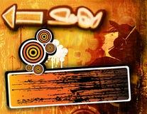 grunge надписи на стенах предпосылки Стоковые Изображения RF