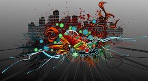 grunge надписи на стенах Стоковое Изображение