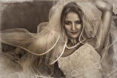 grunge невесты иллюстрация вектора