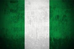 grunge Нигерия флага Стоковые Изображения RF