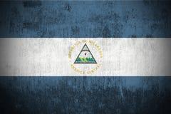 grunge Никарагуа флага Стоковое Фото