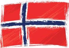 grunge Норвегия флага Стоковое Изображение RF