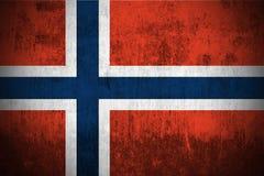 grunge Норвегия флага Стоковая Фотография