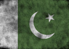 grunge Пакистан флага Стоковое Изображение RF