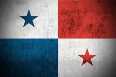 grunge Панама флага Стоковые Фото