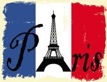Grunge Парижа Стоковое Изображение