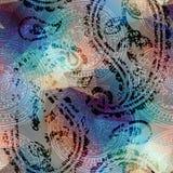 Grunge Пейсли Стоковые Изображения RF