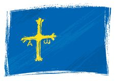Grunge покрасил флаг общины Астурии бесплатная иллюстрация