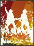 grunge полосы ретро Стоковая Фотография RF