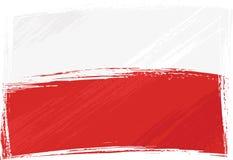 grunge Польша флага Стоковые Изображения