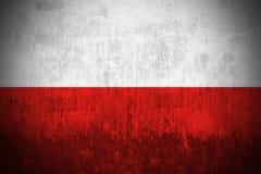 grunge Польша флага Стоковое фото RF