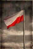grunge Польша флага Стоковое Изображение