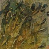 grunge предпосылки искусства флористическое Стоковая Фотография