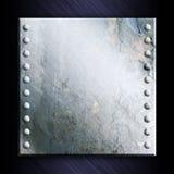 grunge предпосылки металлопластинчатое Стоковые Изображения RF