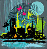 grunge предпосылки урбанское Стоковая Фотография