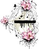 grunge предпосылки флористическое Стоковые Изображения RF