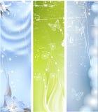 grunge предпосылки флористическое Стоковые Фотографии RF