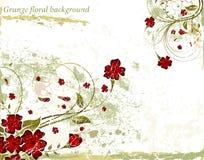 grunge предпосылки флористическое Стоковые Изображения