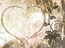 grunge предпосылки флористическое Стоковые Фото