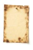 grunge пригвоздило спайк пергамента стоковая фотография rf
