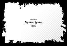grunge рамки Нарисованные рукой текстурированные элементы дизайна Стоковое фото RF