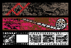 grunge рамки пленки знамени текстурировало Стоковые Фото