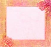 grunge рамки цветка поздравлению Стоковые Изображения RF