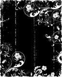 grunge рамки цветка Стоковое Изображение RF