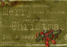 grunge рождества карточки Стоковое фото RF