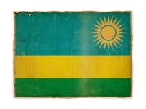 grunge Руанда флага Стоковое Фото