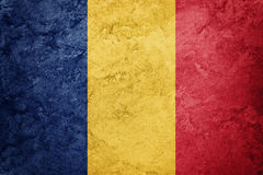 grunge Румыния флага Румынский флаг с текстурой grunge Стоковая Фотография