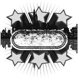 grunge серого цвета диско знамени иллюстрация вектора