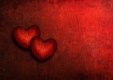 Grunge сердца валентинки Стоковые Изображения RF